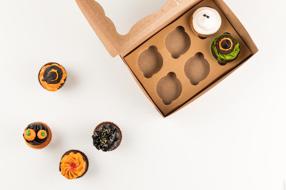 Kraft box packaging for Cupcakes