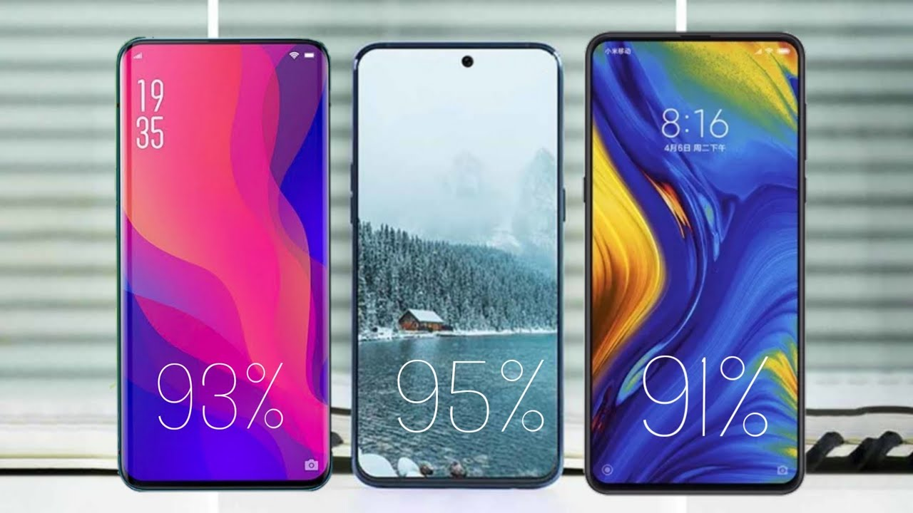 bezel less phones