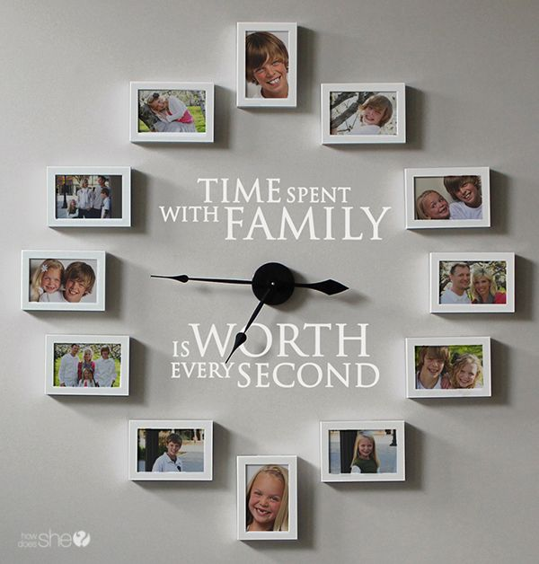 Family Clock with Pictures