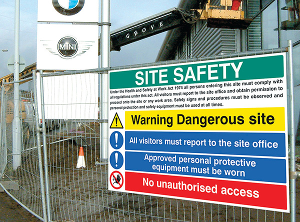 How to Ensure Safety at Construction Sites through Signage?