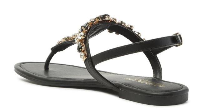 embellished ankle strap flat sandals