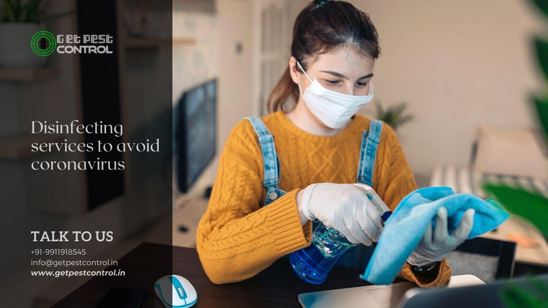 Disinfecting services to avoid coronavirus